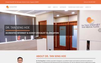 Kidney Clinic web design portfolio