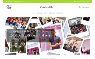 Omhealth webdesign portfolio
