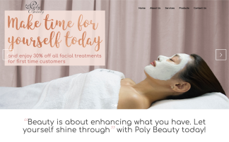 Polybeauty web design portfolio