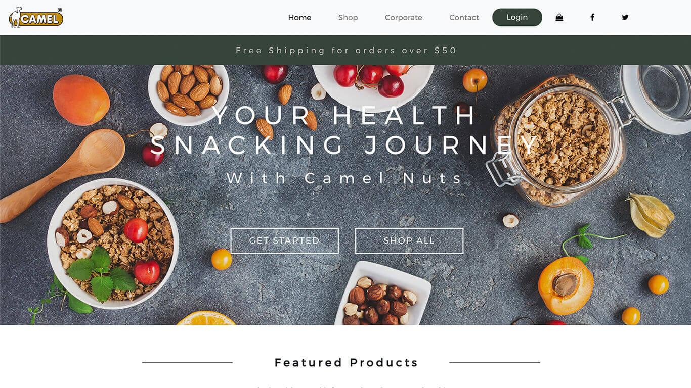 Camelnuts web design