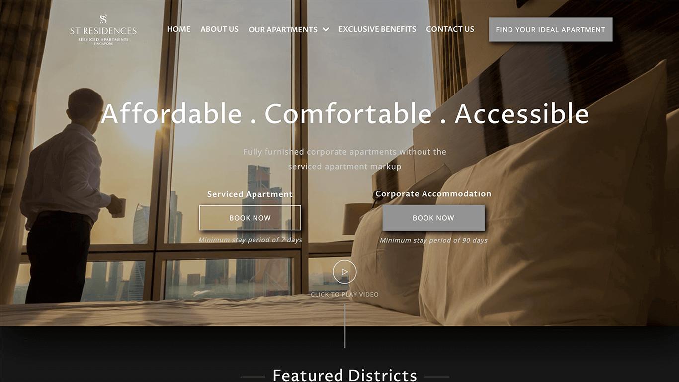 STResidences web design