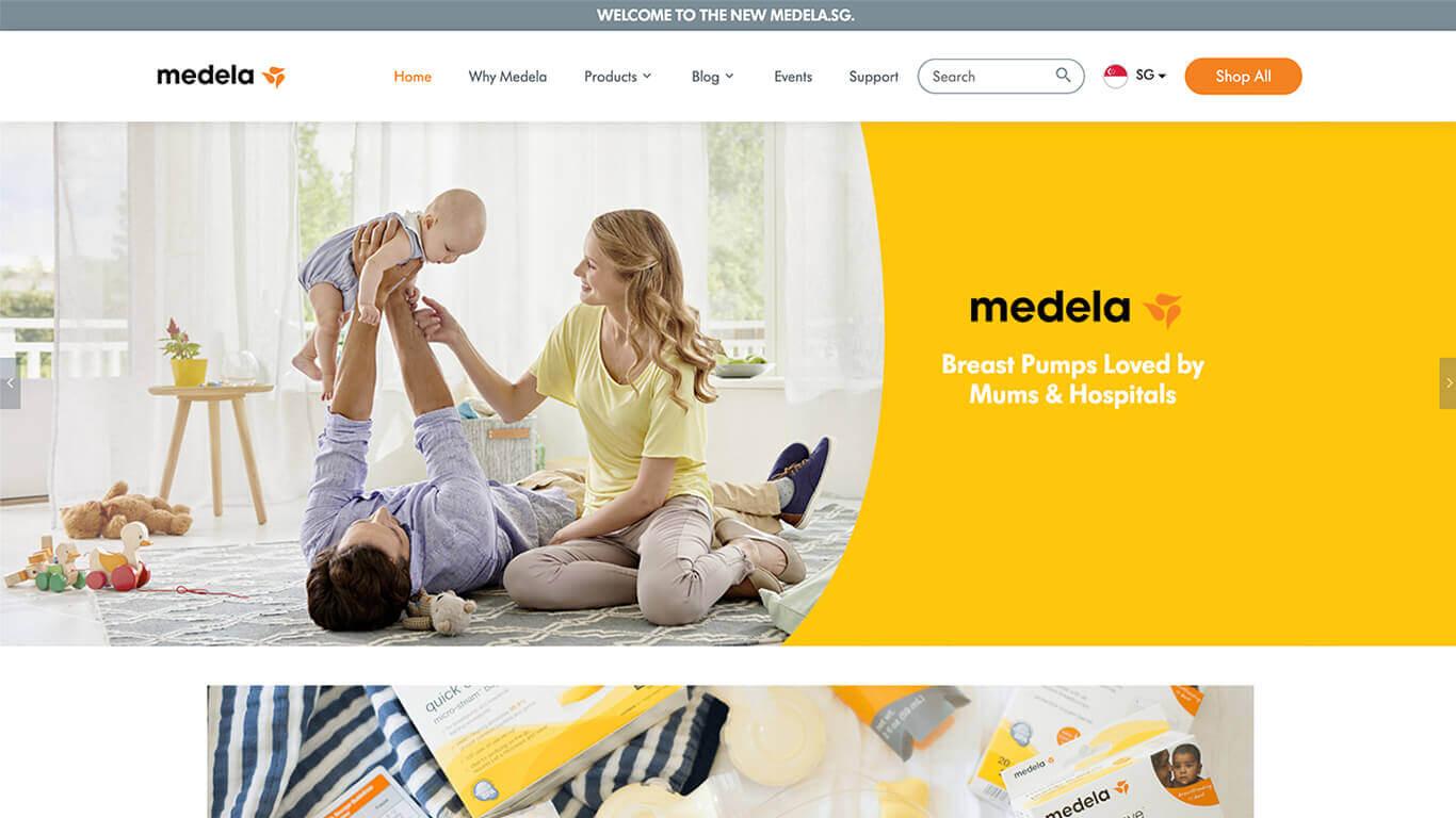Medela web design