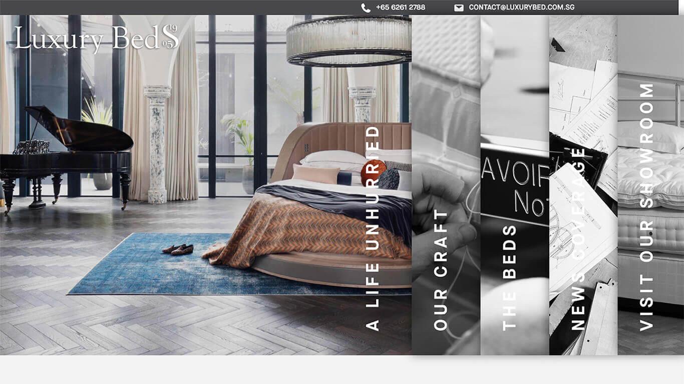 LuxuryBed web design