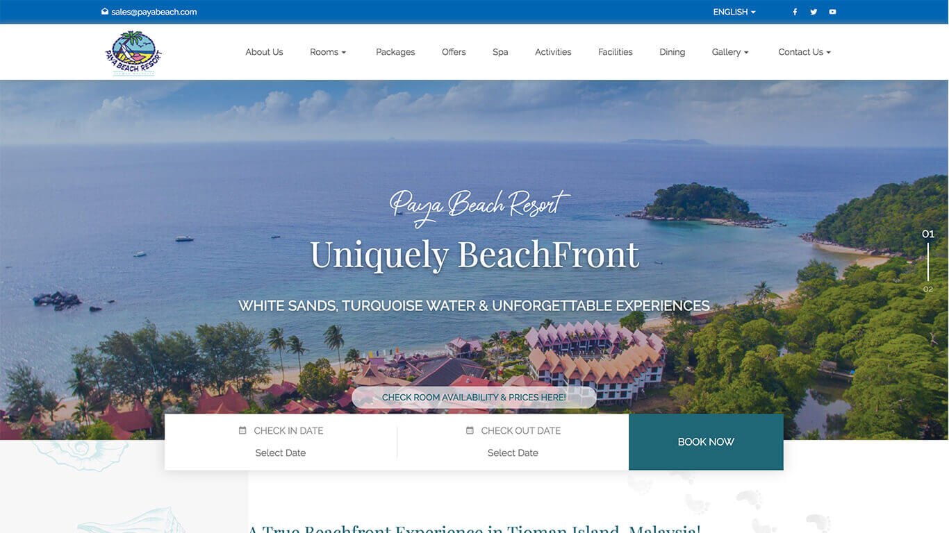 Payabeach web design