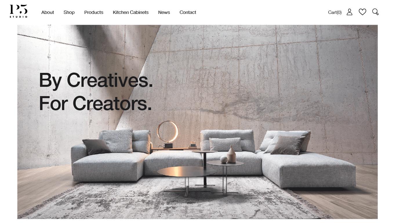 P5 Studio web design