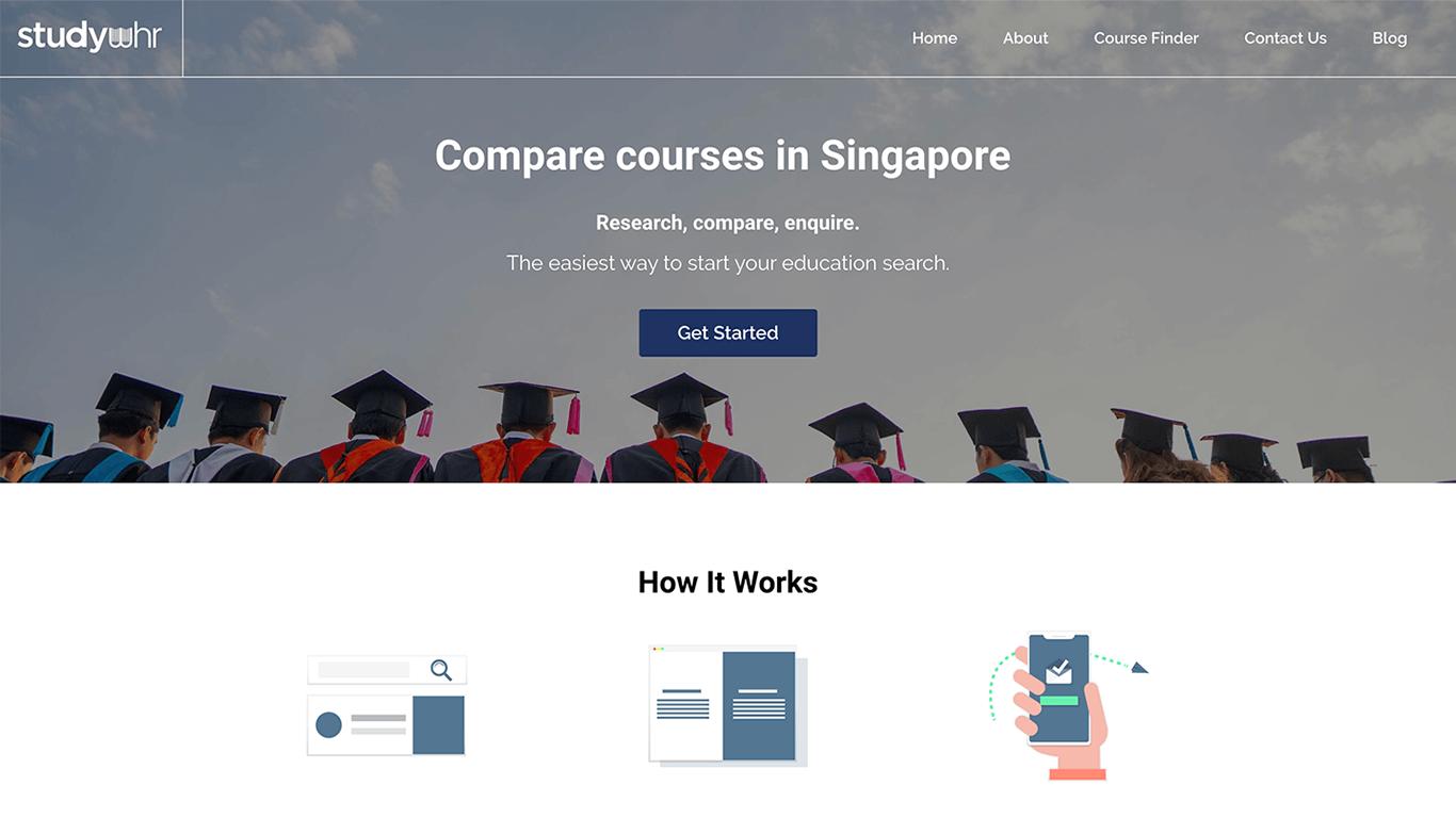 Studywhr web design