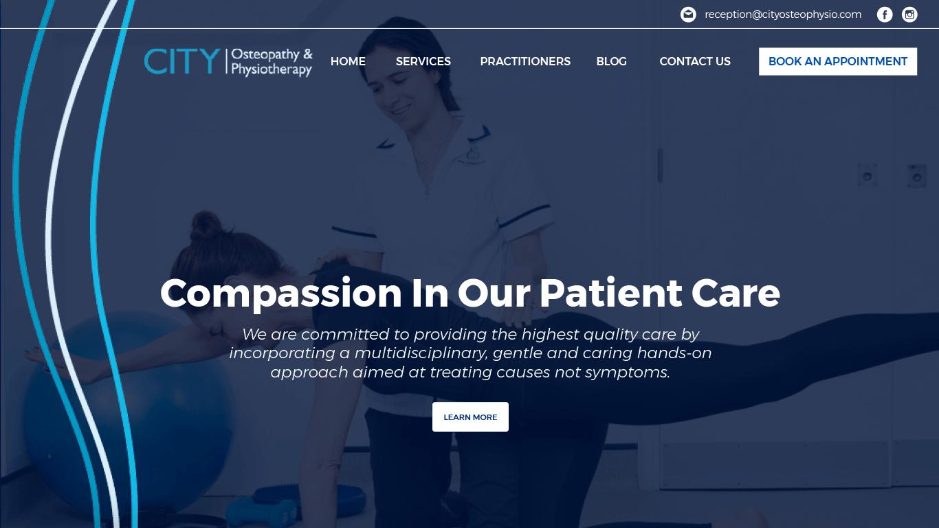 City Osteophysio web design