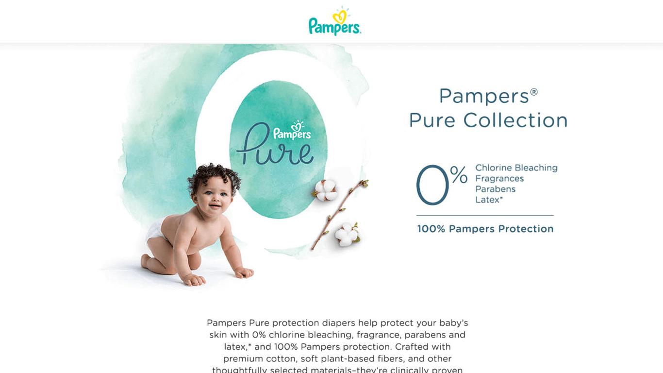 Pampers web design