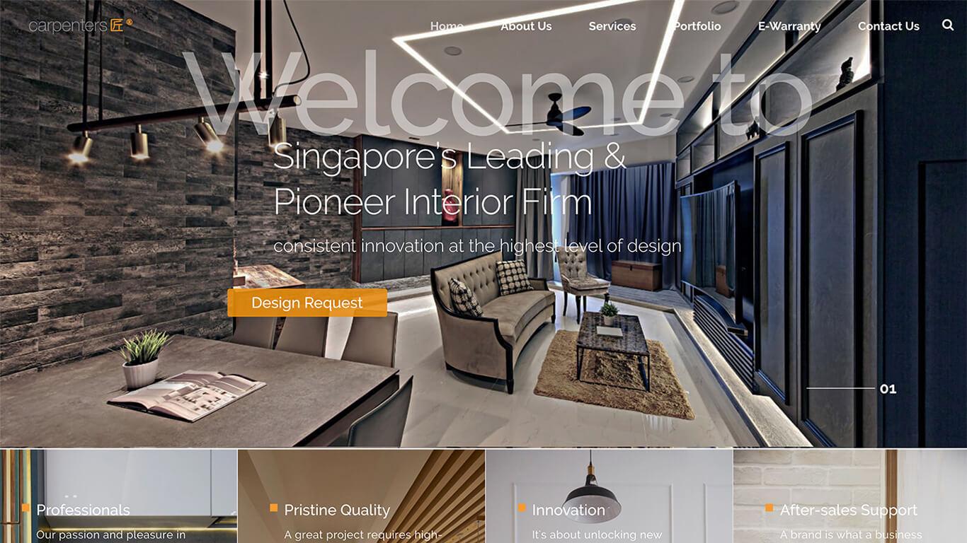Carpenters web design