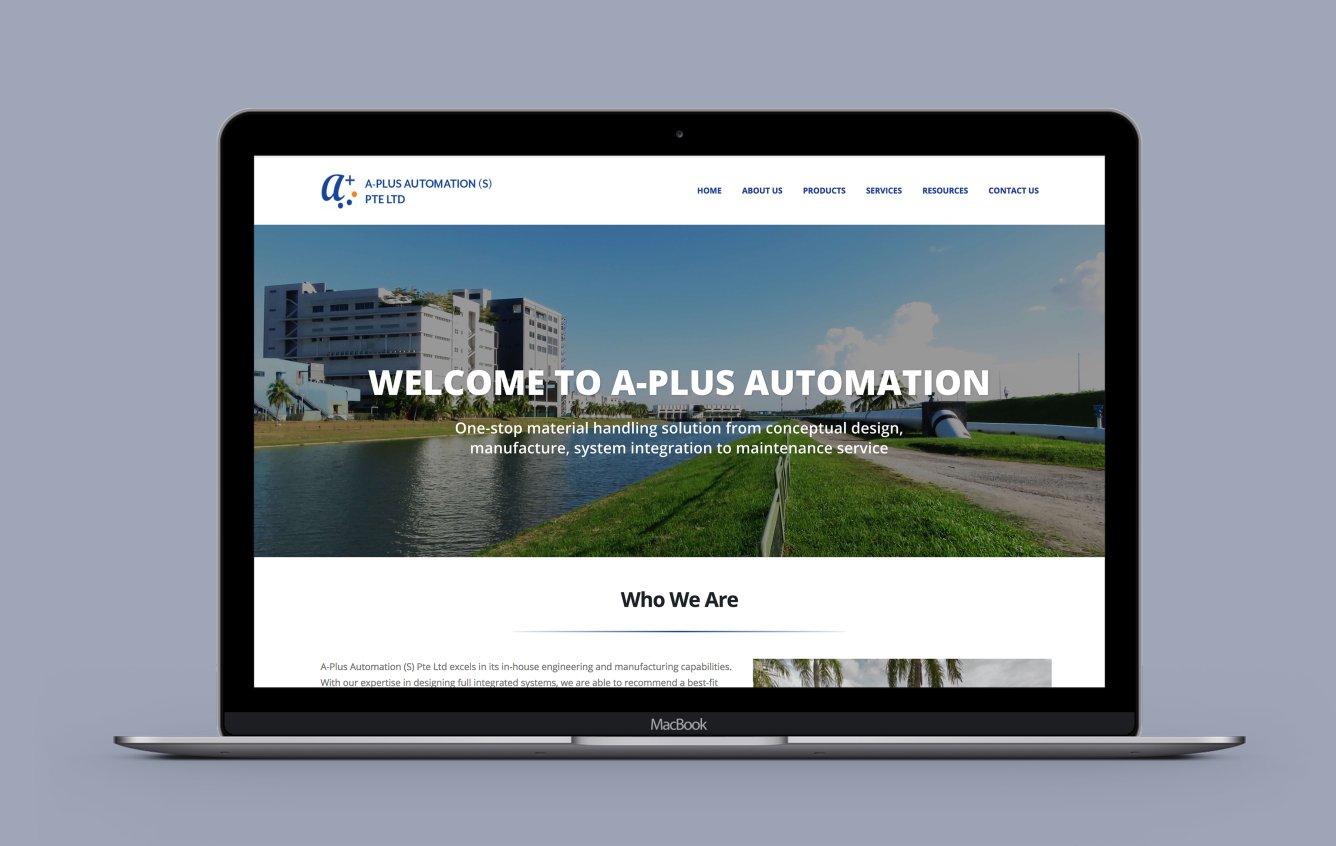 Aplus portfolio desktop web design