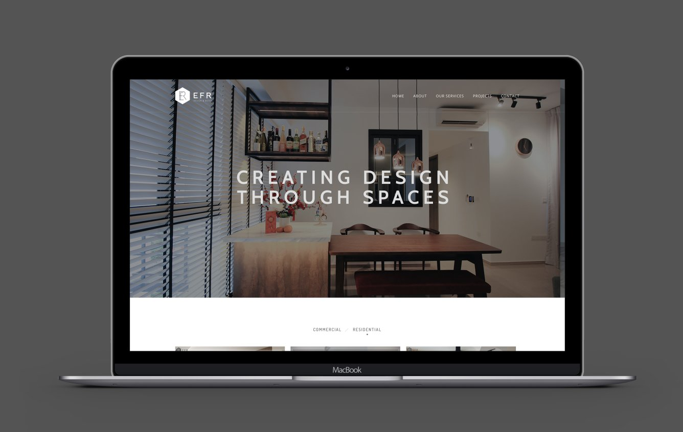 EFR Design desktop portfolio