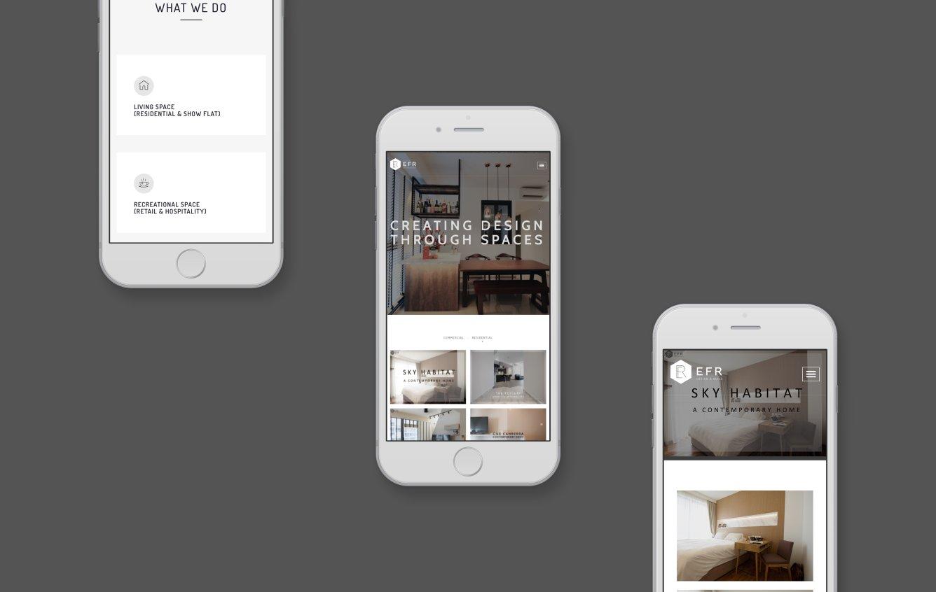 EFR Design mobile portfolio