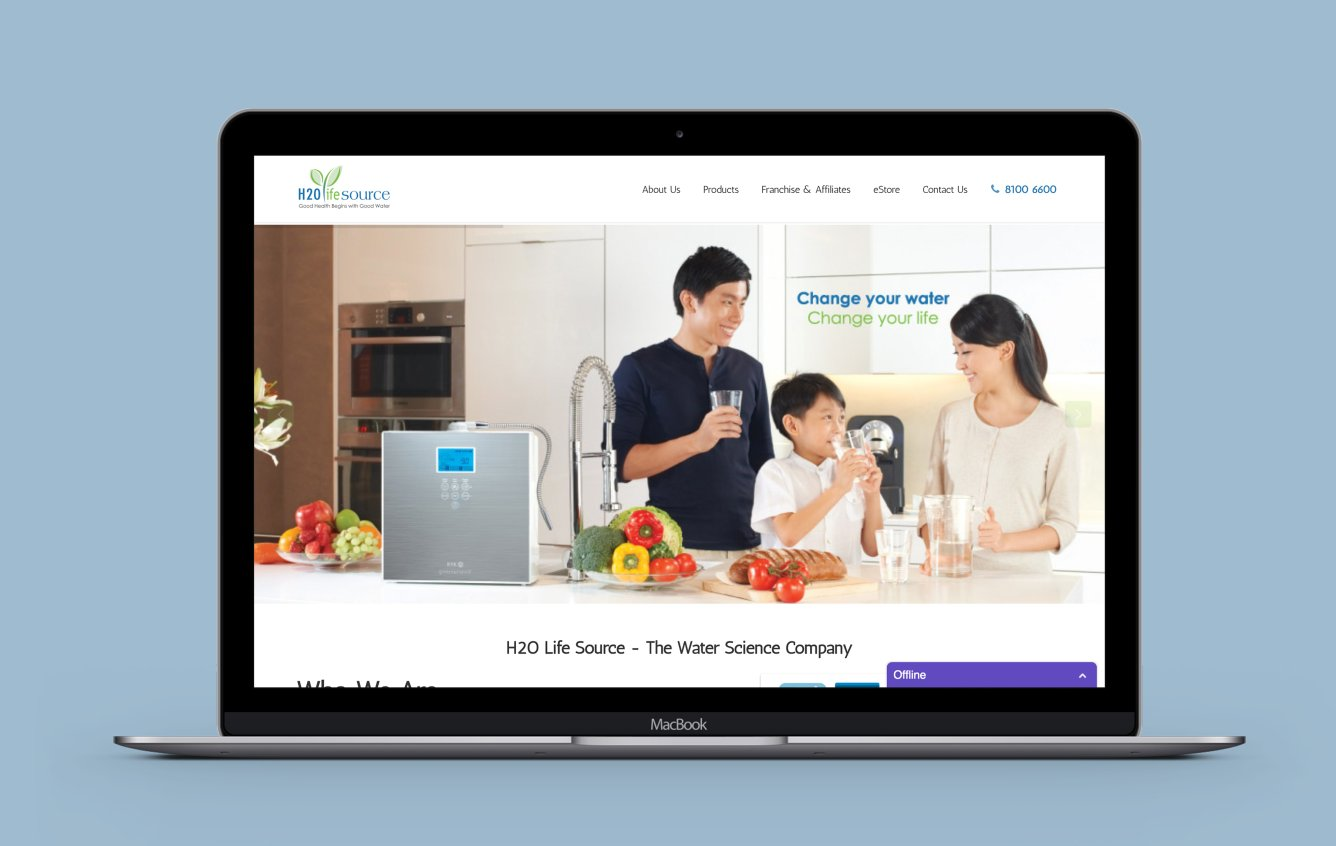 H2O Lifesource desktop web design