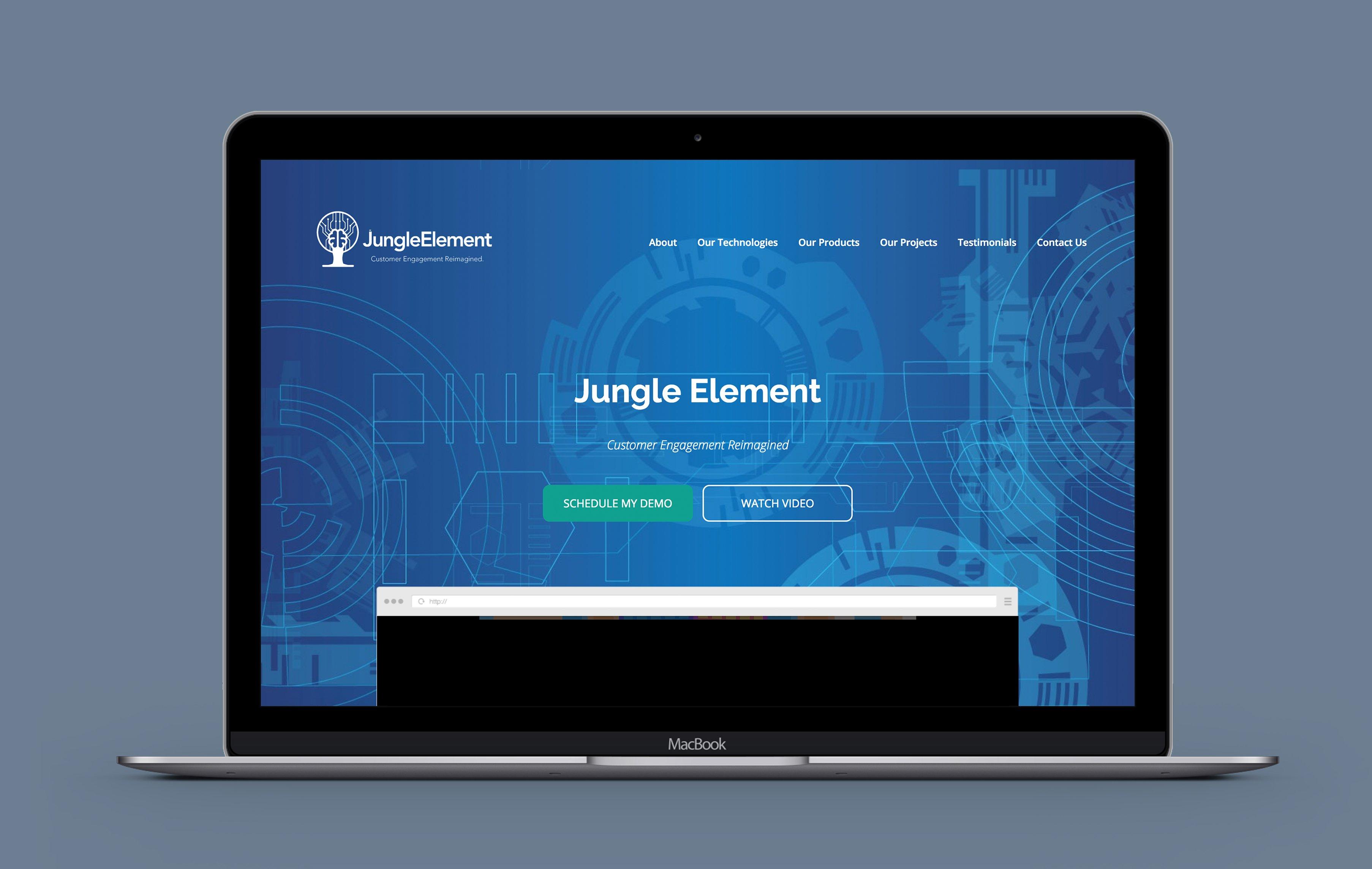 Jungle Element desktop web design portfolio