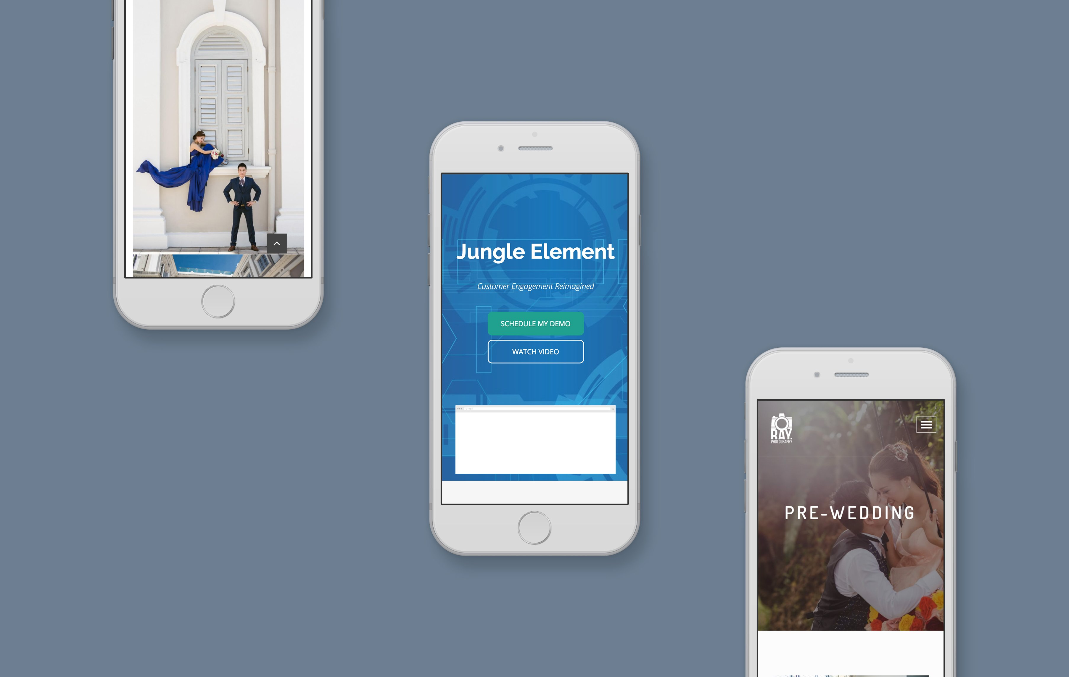 Jungle Element mobile web design portfolio