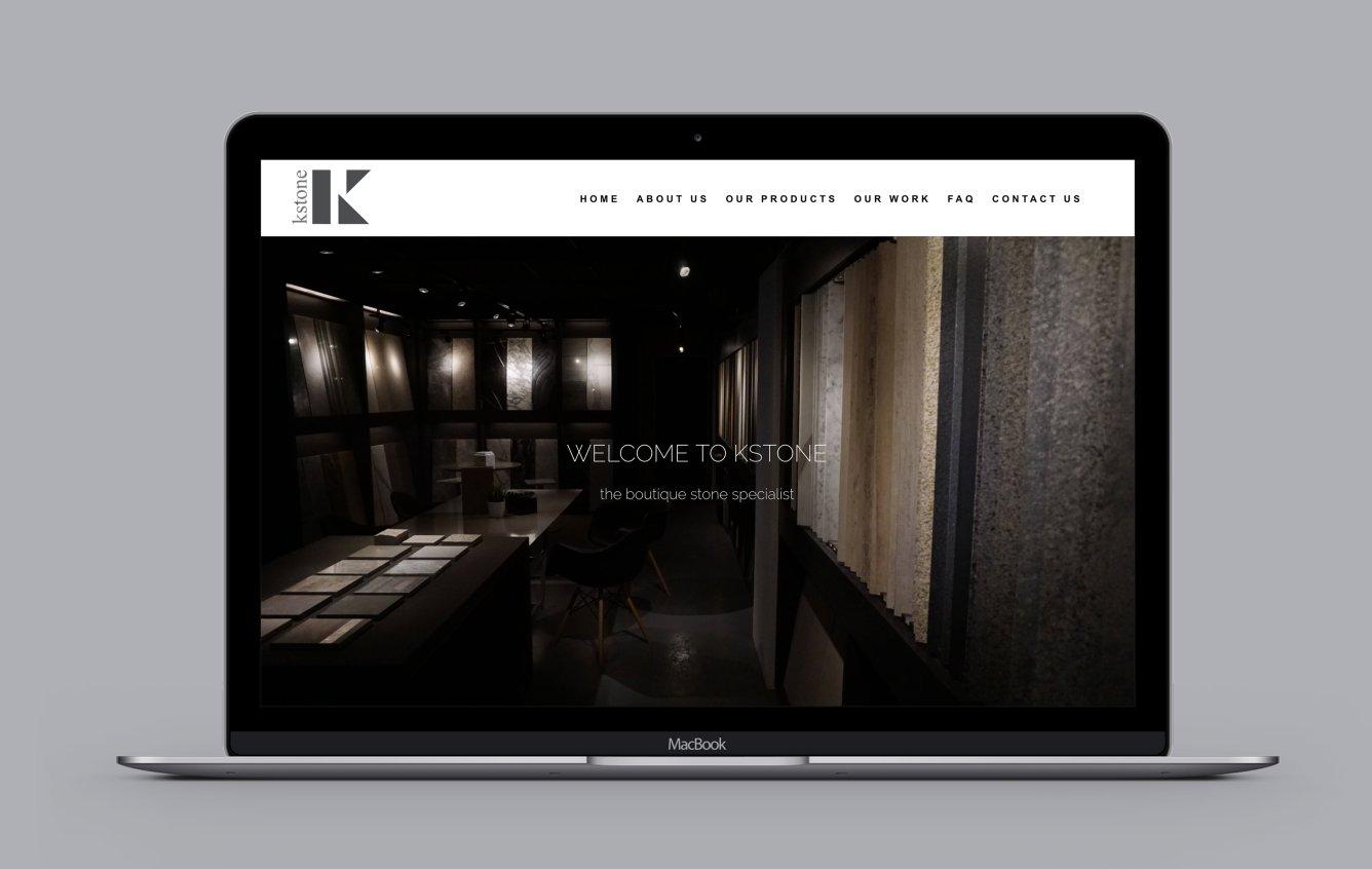 Kstone deskstop web design portfolio