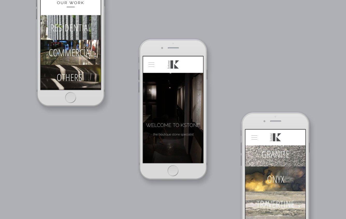 Kstone mobile web design portfolio