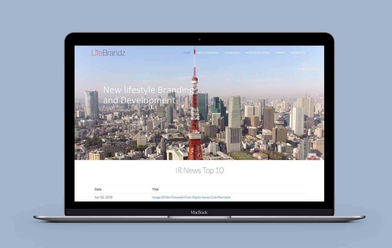 Lifebrandz desktop web design portfolio