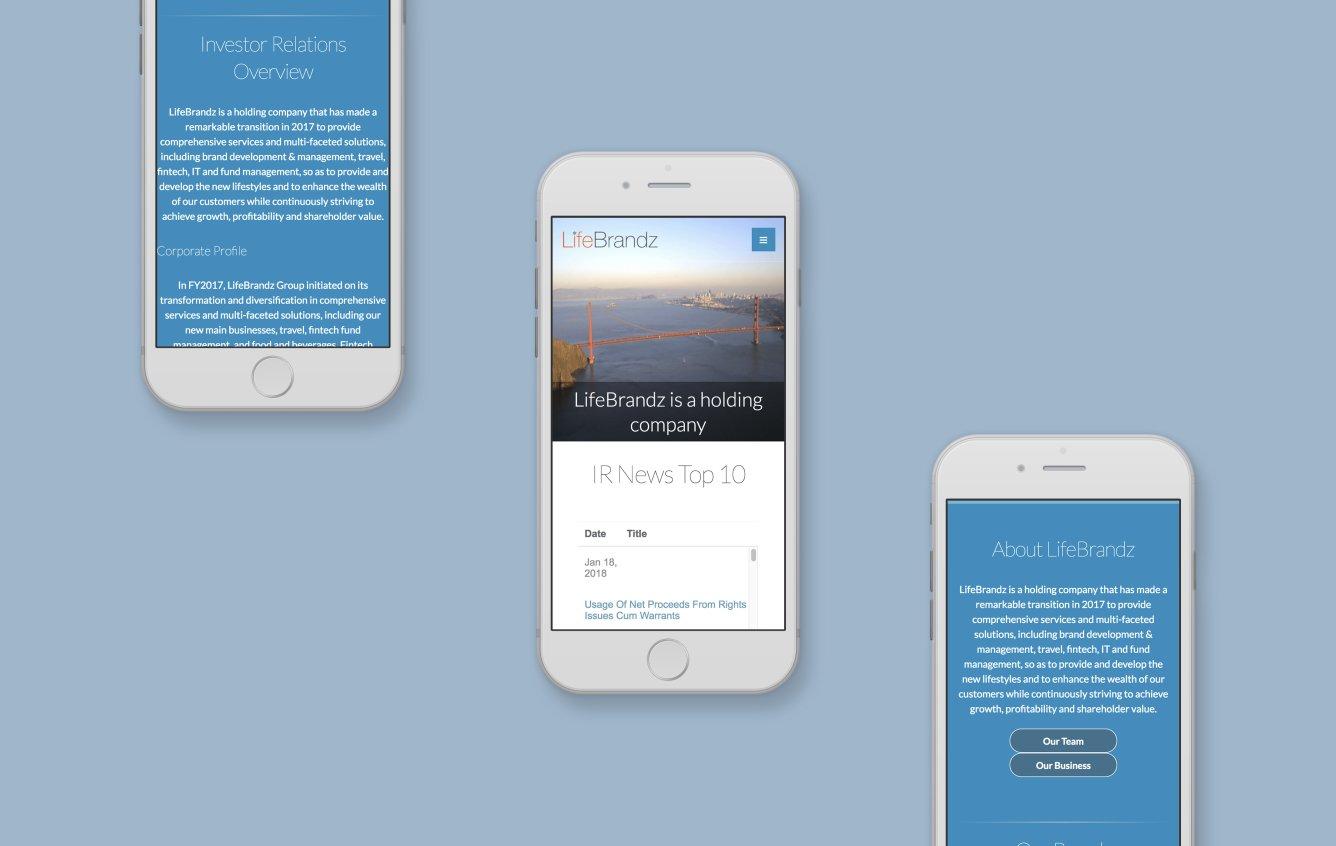 Lifebrandz mobile web design portfolio