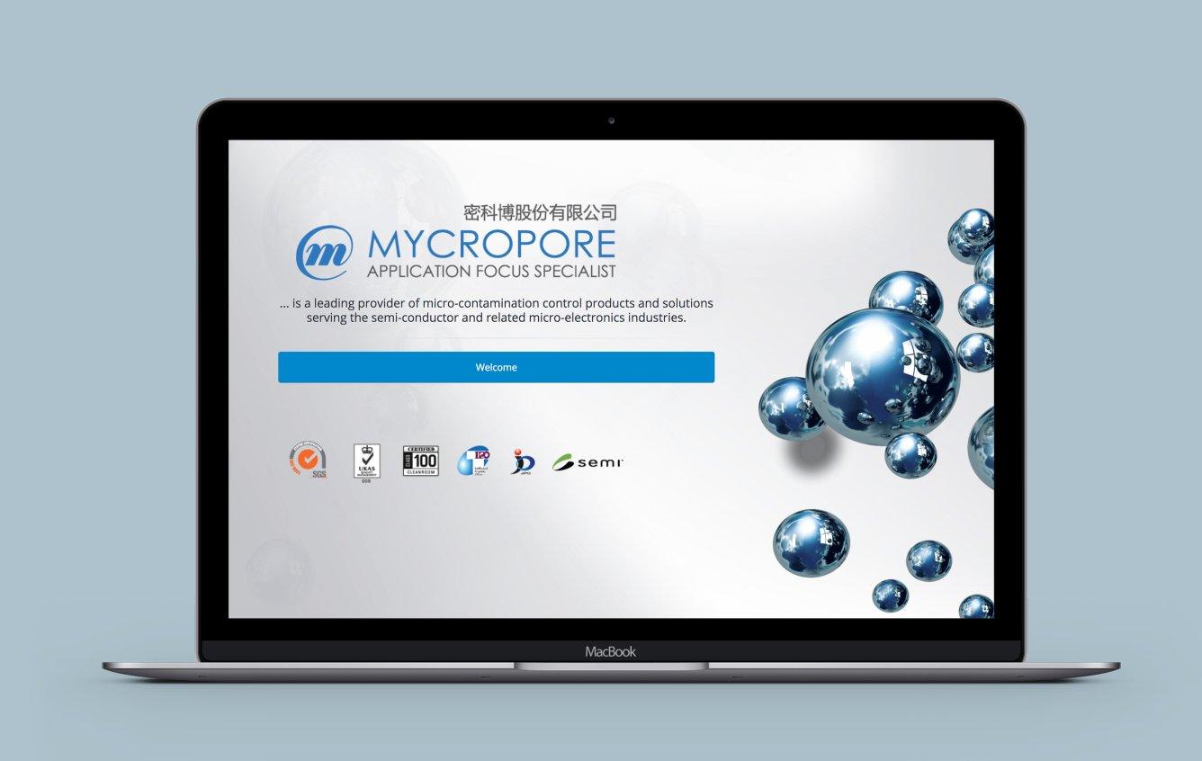Mycropore desktop web design portfolio