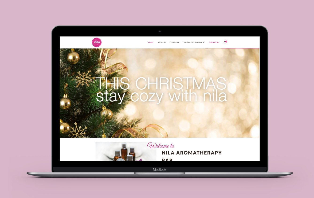 Nila Singapore desktop web design portfolio