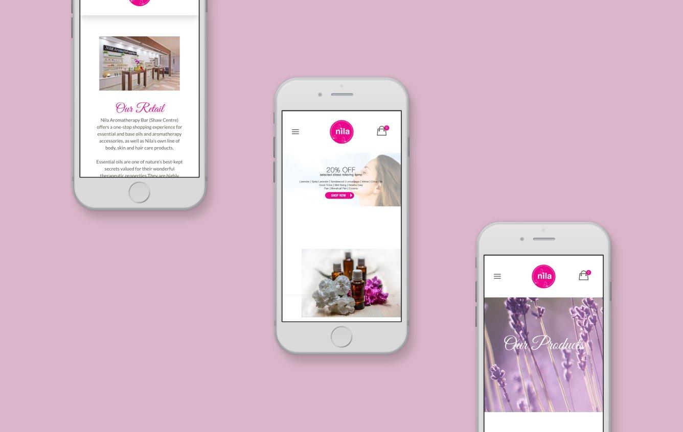 Nila Singapore mobile web design portfolio