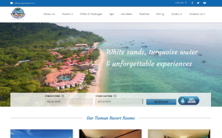 Portfolio Website Design Paya Beach Resprt