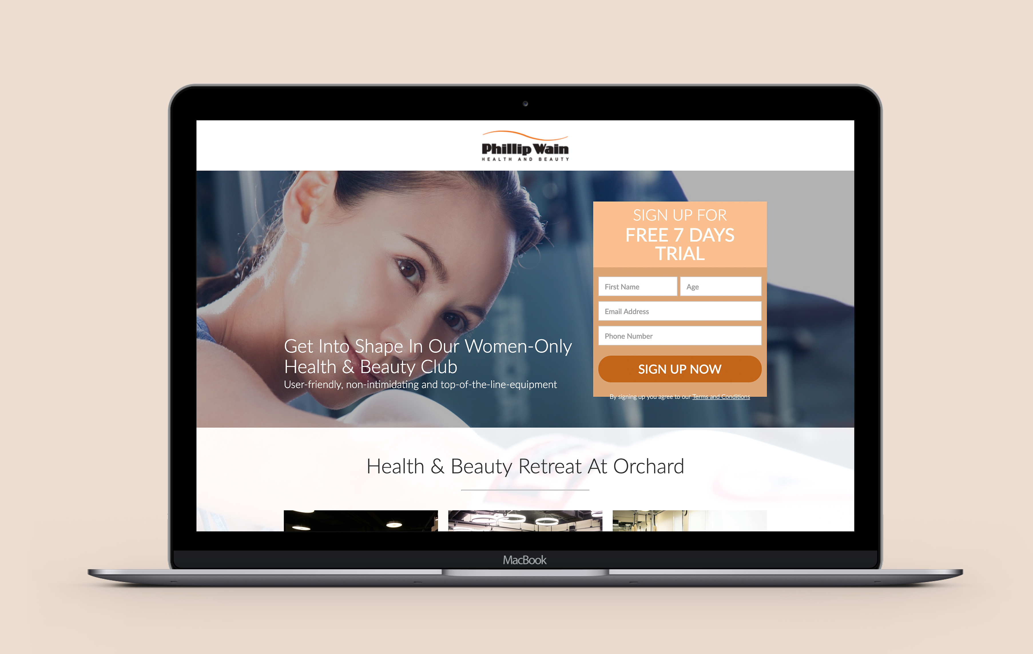 Philip Wain desktop web design development