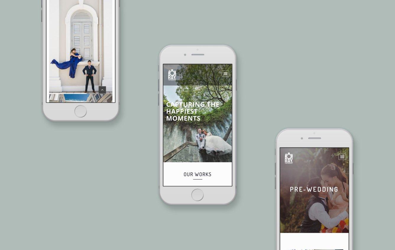 Ray Photography mobile web design portfolio