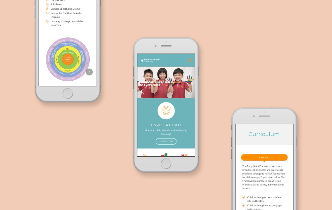 Sunshine kids mobile web design portfolio
