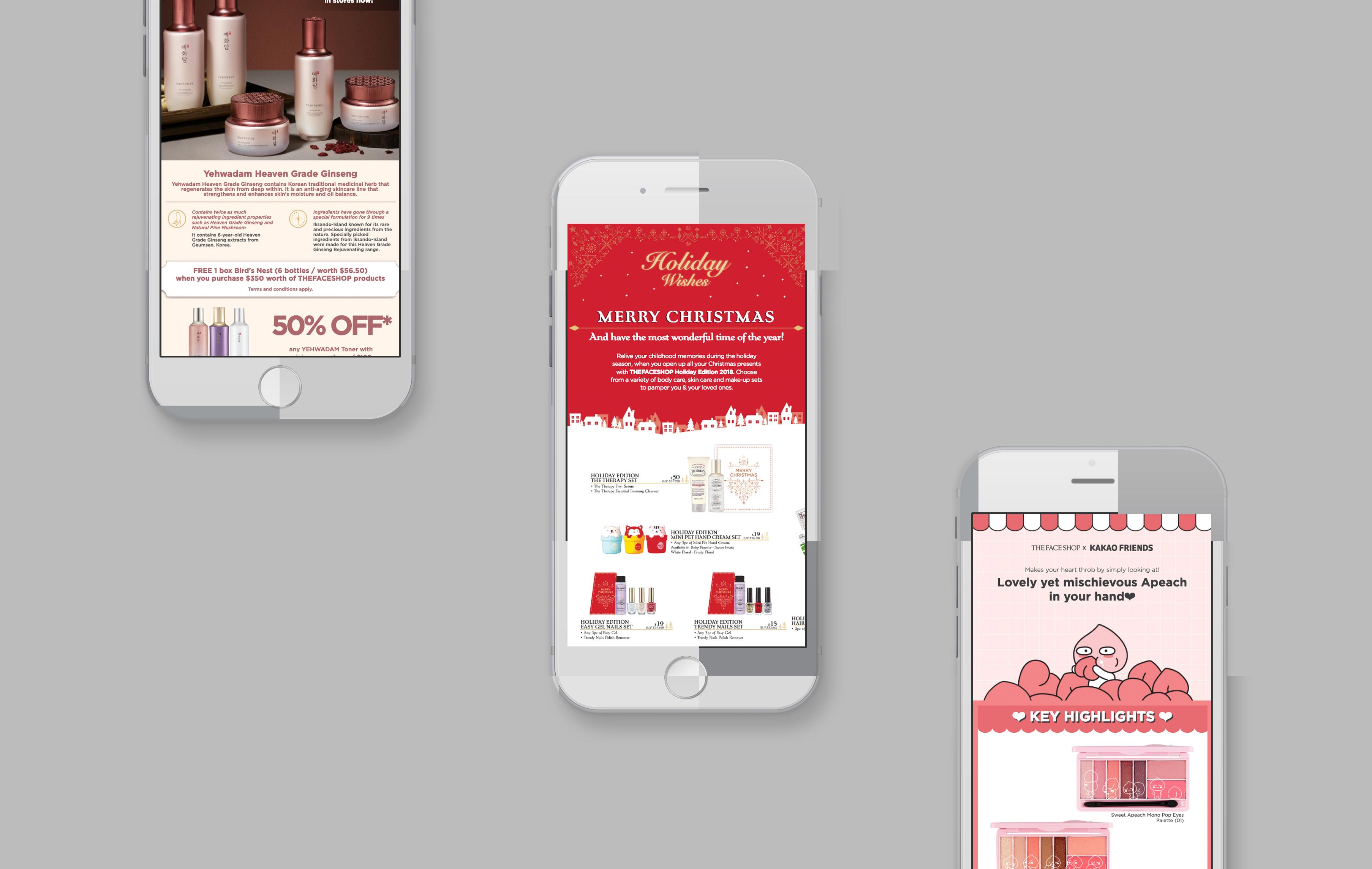 The Face Shop mobile web design portfolio