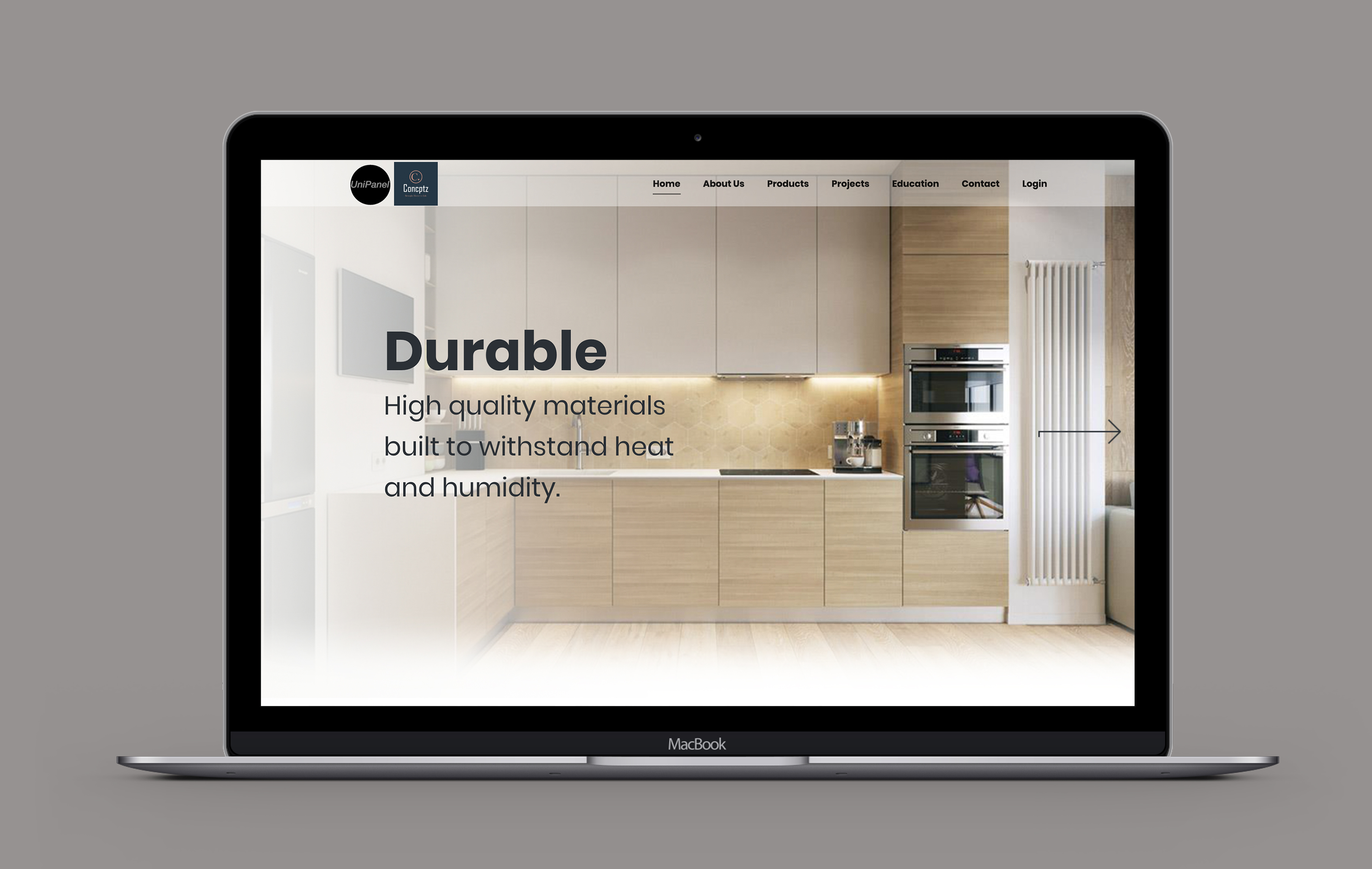 Uni Panel desktop web design